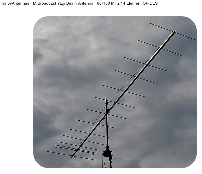 TV And FM DX Page The New Mikes Summitsource Fracarro BLV6F VHF HI High Gain Wideband YAGI Directional Antenna
