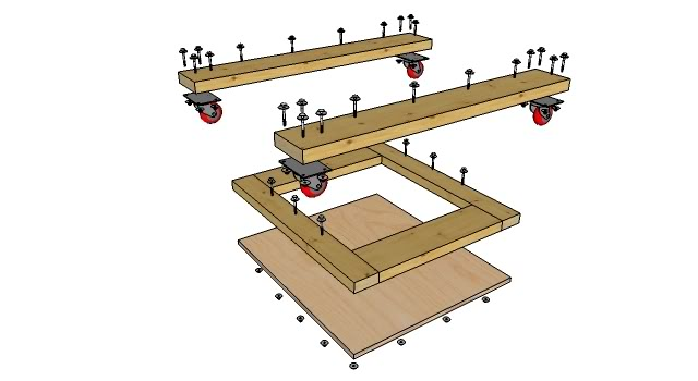 Craftsman Table Saw 2 Rolling Base To Build For The Saw